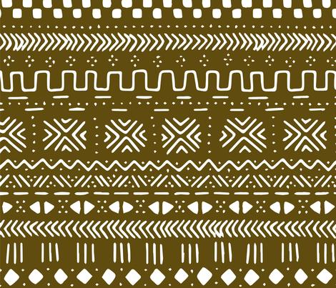 BIG Brown Mudcloth fabric by brainsarepretty on Spoonflower - custom fabric