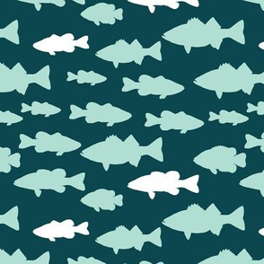 fish on dark teal || the yellowstone collection