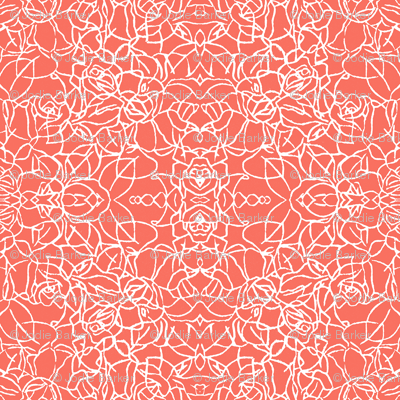 Knotted Rose - Coral