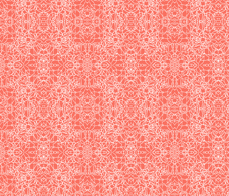Knotted Rose - Coral fabric by jodiebarker on Spoonflower - custom fabric