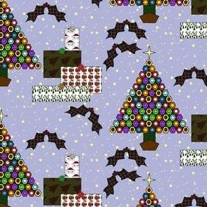 Xmas Scene with Stars Background