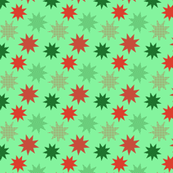Calm and Bright Retro Christmas Pattern