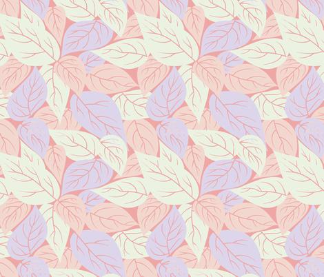 scattered leaves in pink vintage inspired modern floral print for rh spoonflower com