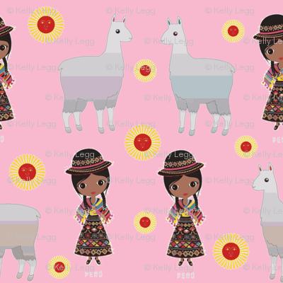 Fiorellas Llamas-pink