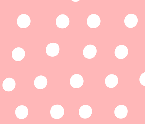 dots light pink :: fruity fun huge fabric by misstiina on Spoonflower - custom fabric