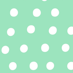 dots mint green :: fruity fun huge
