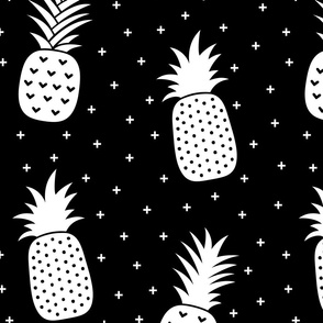 pineapples + white black :: fruity fun huge