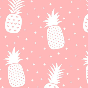 pineapples + light pink :: fruity fun huge