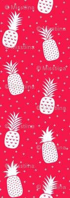 pineapples + red :: fruity fun huge