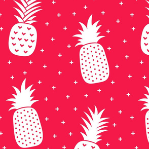 pineapples + red :: fruity fun huge