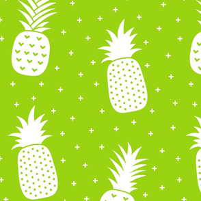 pineapples + lime green :: fruity fun huge