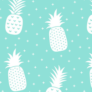 pineapples + sky blue :: fruity fun huge
