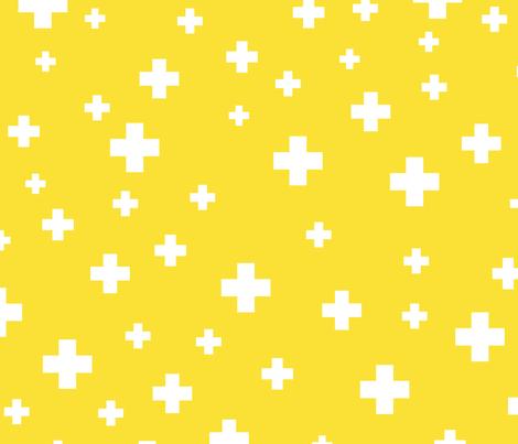 positive plus yellow :: fruity fun huge fabric by misstiina on Spoonflower - custom fabric