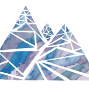 Geometric Watercolor Mountain