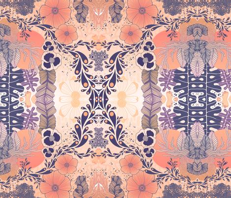 Wild Orange lll fabric by meledelayglesia on Spoonflower - custom fabric