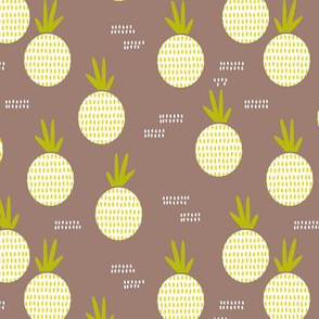 Retro round pineapple fruit kitchen pastel Scandinavian style summer design gender neutral lime MEDIUM