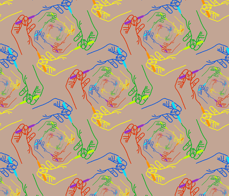 homage to Escher fabric by enid_a on Spoonflower - custom fabric