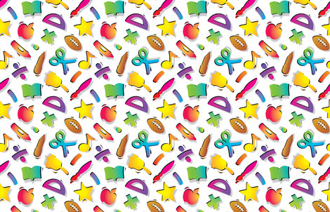 Cool_School_Colors_White fabric by margodepaulis on Spoonflower - custom fabric