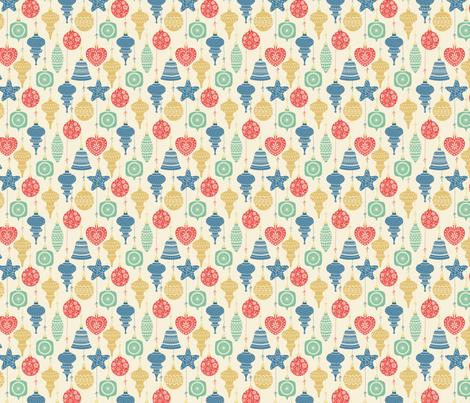 vintage ornaments fabric by laura_mooney on Spoonflower - custom fabric