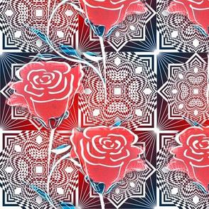 Square Diamond Rose Small More Red