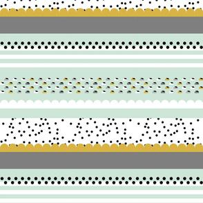 Mint Mustard Stripe small scale