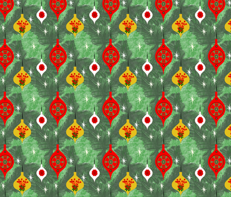 1950's Christmas fabric by gargoylesentry on Spoonflower - custom fabric