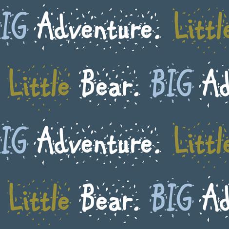 Bear Trail // Little Bear Big Adventure - on slate fabric by buckwoodsdesignco on Spoonflower - custom fabric