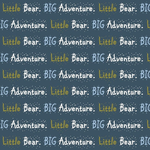 Bear Trail // Little Bear Big Adventure - on slate