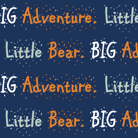 Bear camp// Little Bear Big Adventure  fabric by buckwoodsdesignco on Spoonflower - custom fabric
