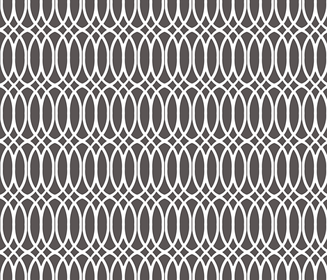 Custom Charcoal In Knots fabric by horn&ivory on Spoonflower - custom fabric