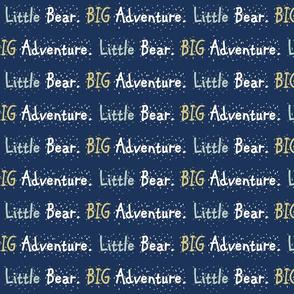 Glacier Lake// Little Bear Big Adventure - on navy