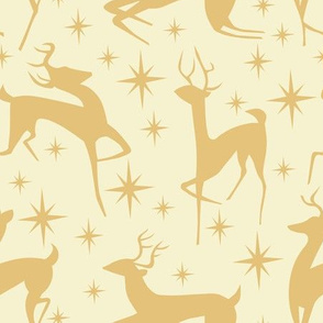 Prancing Reindeer in Gold