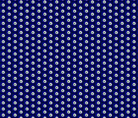 Small Navy Blue Protective Eye  fabric by gwen_charles on Spoonflower - custom fabric