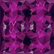 Purple black geode