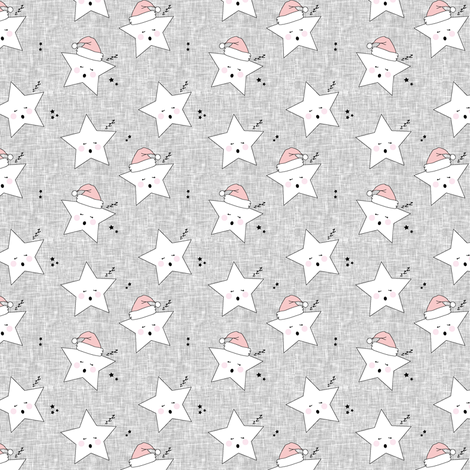 sleepy stars (micro scale) || holiday rose quartz fabric by littlearrowdesign on Spoonflower - custom fabric