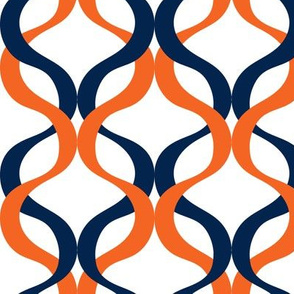 Navy and orange team color  Wave