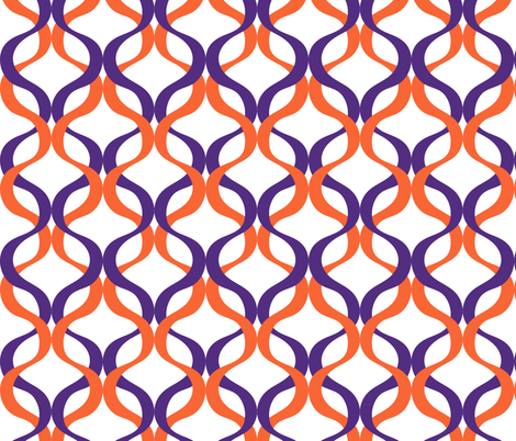 Clemson Wave fabric by rickrackscissorsstudio on Spoonflower - custom fabric