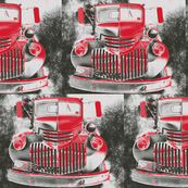 ClangClang Firetruck Red Gray