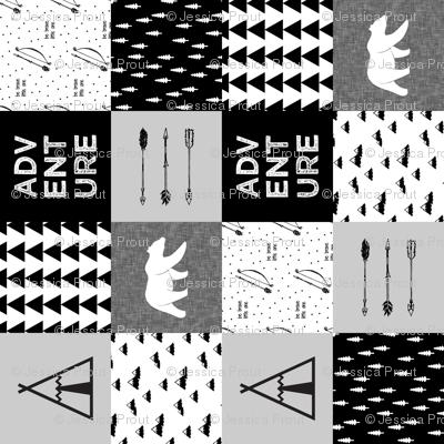 "adventure wholecloth quilt top (90) (6"" squares) V2"