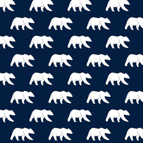 bear on navy || northern lights collection