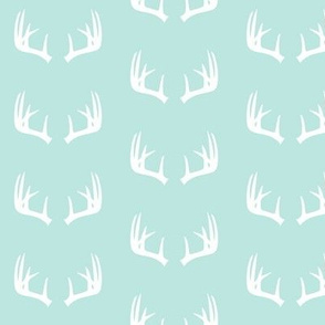 antlers (small scale) paramour blue || the bear creek collection