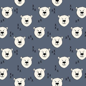 Polar bear (small scale) || dark blue