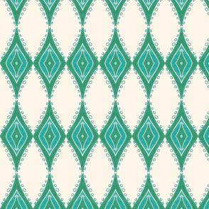 Leaf Pearls Geometric - white