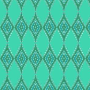 Leaf Pearls Geometric - green