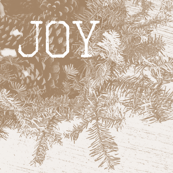 JOY with Pines and Pinecones