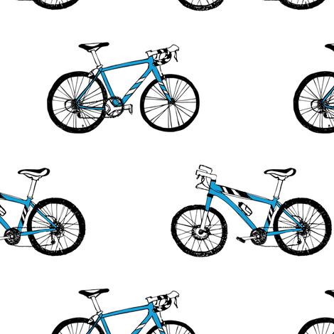 Mountainbike & racing bike  fabric by revista on Spoonflower - custom fabric