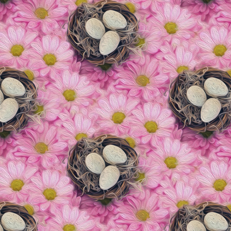 the birds nest fabric by stofftoy on Spoonflower - custom fabric
