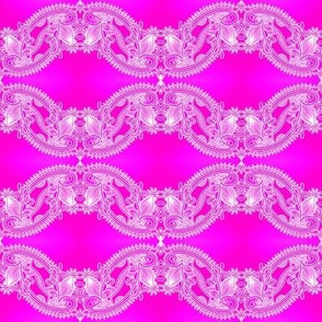 bright fuchsia lace wave