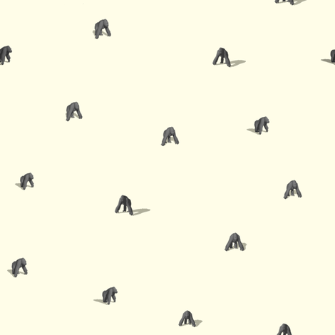 gorillas leave the mist fabric by mcclept on Spoonflower - custom fabric