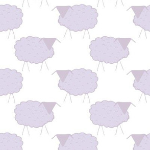 Sheep in Pastel Purples